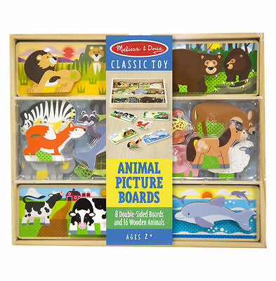 (Melissa & Doug Magnetic Wooden Animal Picture Boards New Sealed #9890)