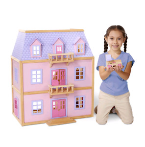 Multi-Level Solid Wood Dollhouse - brand new