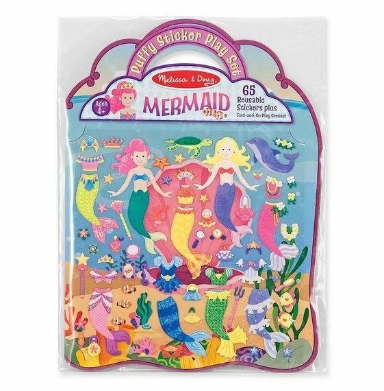 Melissa & Doug Puffy Sticker Activity Book: Mermaids - 65 Re