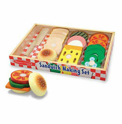Melissa and Doug Wooden Sandwich Making Set #513