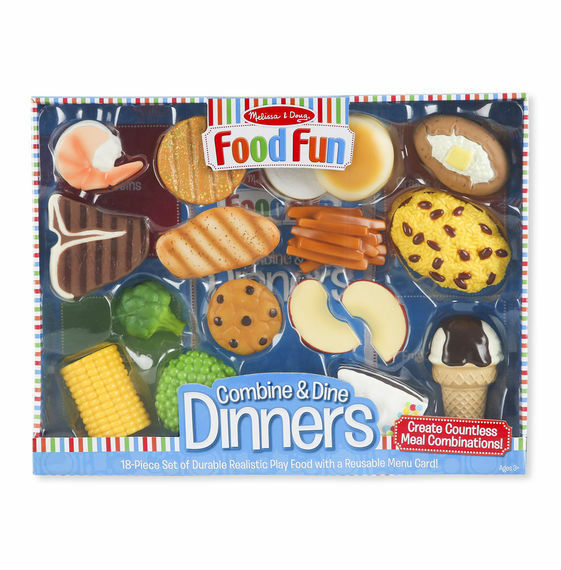 Melissa & Doug Food Fun Combine & Dine Dinners Playset - 18