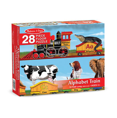 Melissa & Doug Alphabet Train Floor Puzzle 28 pc #0424 #424  -New