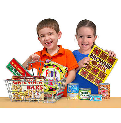 Melissa & Doug Let's Play House Grocery Basket with Play Food #5171