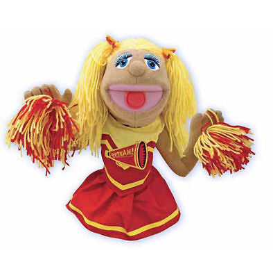 Melissa & Doug Cheerleader Puppet With Detachable Wooden Rod for Animated #2554](Melissa And Doug Puppet)