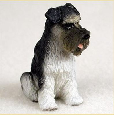 SCHNAUZER (GRAY UNCROPPED) TINY ONES DOG Figurine Statue Pet Lovers Resin figure