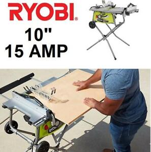 NEW* RYOBI 10 15 AMP TABLE SAW RTS22 242756781 W/ ROLLING STAND