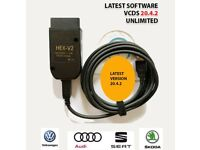 NEW VCDS 20.4.2 HEX CAN FULL DIAGNOSTIC TOOL VW AUDI SEAT FULL