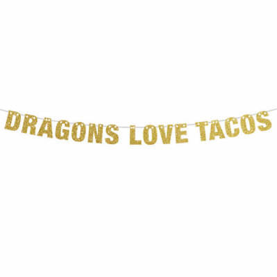 Customized Party Banners (Dragons Love Tacos Banner, Dragons Love Tacos Party, Custom Banners in)