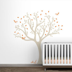 Hight-150cm-Birds-Tree-Vinyl-Wall-Paper-Decal-Art-Sticker-T178