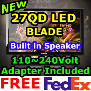 "★CROSSOVER★NEW 27QD LED BLADE​ 2560x1440 DVI-D Dual LG S-IPS 27"" Speaker Monitor"