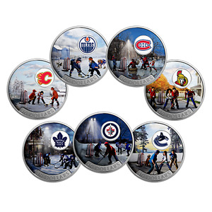 (7) Canadian NHL pure Silver coins - Canada's 150 Birthday 2017