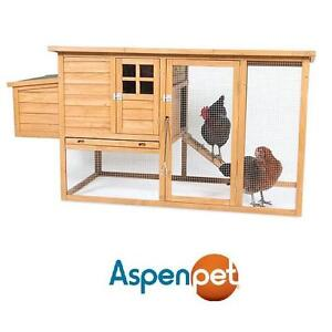NEW*ASPEN PET COMPLETE CHICKEN COUP - 110508540 - 2-4 HENS PULL OUT TRAY FLAT ROOF TOP CHICKENS FARM FARMS FARMING HE...