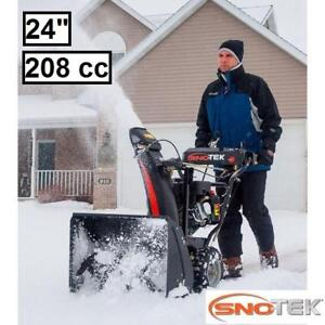 """NEW SNOTEK 24"""" GAS SNOW BLOWER 920402 142372071 2 STAGE ELECTRIC START SNOWBLOWER REMOVAL CLEARING DRIVEWAY WALKWAY"""