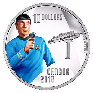 "COMMANDER ""SPOCK"" STAR TREK SILVER COIN-Mint Condition!!!"