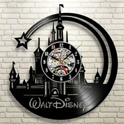Walt Disney Pictures Retro Vinyl Record Wall Clock Modern Gift Idea For Kids