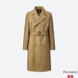 BNWT Uniqlo Jw Anderson Mens Reversible Trench Coat Khaki XS