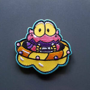 Cosmo-Gang-UFO-PATCH-6x6cm-PARCHE-Hook-amp-Loop-backing-2-5-034-x-2-5-034