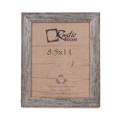"8.5x11 - 1.5"" Wide Standard Reclaimed Rustic Barnwood Photo Frame"