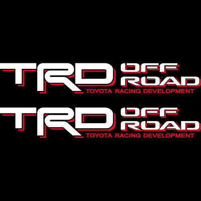 Toyota TRD Off Road 4x4 Tacoma Tundra Red/White Sticker Decal 05