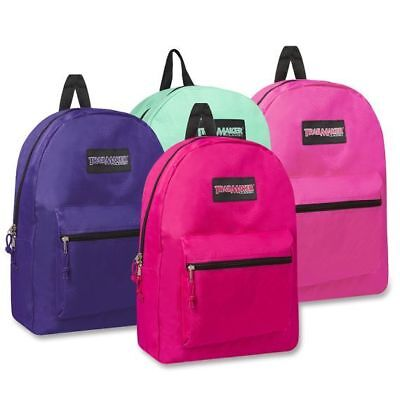 """Trailmaker Classic 17"""" Backpack Assorted Colors Girls and Boys New With Tags"""