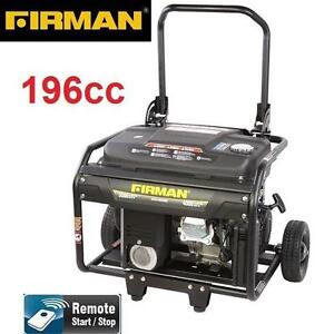 NEW FIRMAN 4000W GAS GENERATOR - 132407561 - 6.5 HP - 196cc - REMOTE START - PORTABLE GENERATORS STARTERS CHARGERS PO...