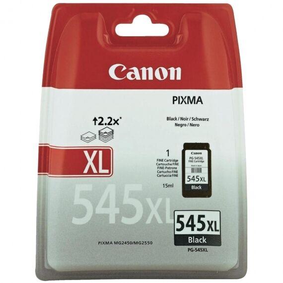 Canon PG545XL, PG-545XL Original OEM PIXMA Black Inkjet Cartridge