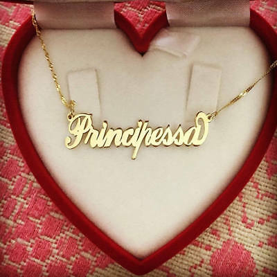 for Her,  Solid 14k Gold, Personalized Name Necklace, Sale! (Valentines Day Sales)