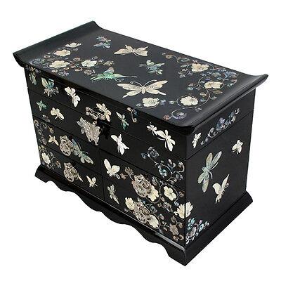 Boîte à Bijoux Moderne Noir Elegance Saint-Valentin Papillon Pays du Matin Calme