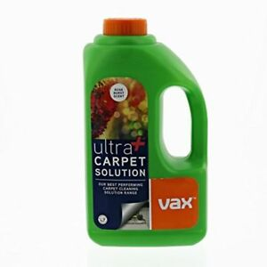 Vax Ultra Plus Carpet Cleaning Solution Shampoo Stain Remover Rose Scent 1.5 L