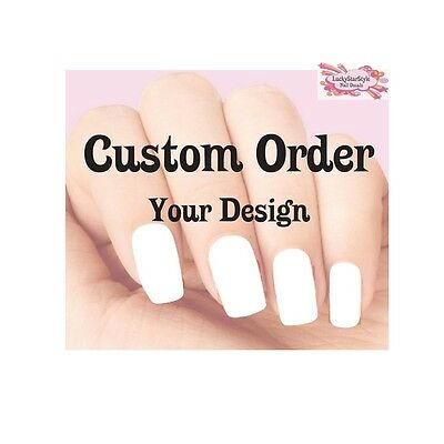 Custom Waterslide Nail Decals - Your Design or Idea  - Custome Ideas