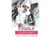 ❤️ Plush Soft Toy Stuffed Elephant Teddy Pillow Safari Animal Big Xmas Birthday Baby Shower Gift ❤️