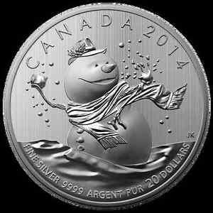 Snowman 2014 Canadian Coin
