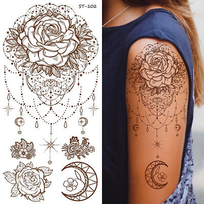 Supperb Temporary Tattoos - Inspired Mandala Rose Henna Jewelry Healing Yoga](Jewelry Tattoos)