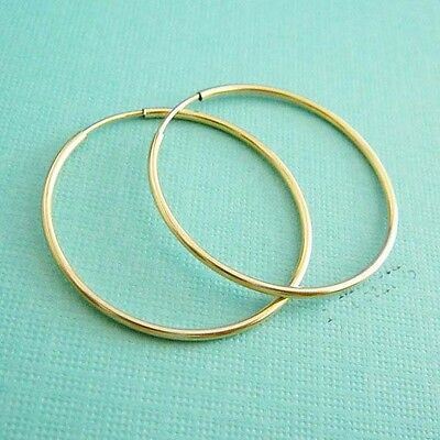 """2"""" 50mm 14k gold filled Round Circle Endless hoop earring ear wire earwire E50g for sale  Shipping to India"""