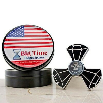 Big Time Premium Metal Fidget Spinner Toy - Made in USA Original 3-D Effect