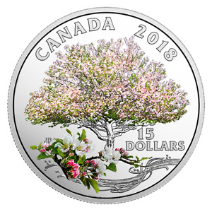 SALE!  Silver Coloured Coin Celebration of Spring: Apple Blossom