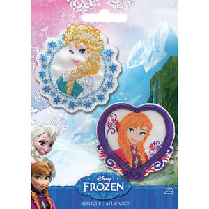 Elsa & Anna Disney Frozen Iron-On Appliques Iron On patches x 2 Applique