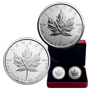 1 oz. Pure Silver Coin - Celebrating the Maple Leaf 2-Coin Serie