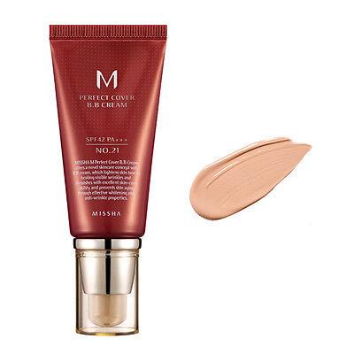 Missha M Perfect Cover BB Cream 50ml SPF 42 / PA +++ ( #21 Bright Beige )