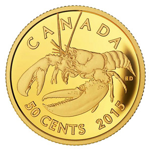 "2015 ""LOBSTER""  Sea Creatures GOLD COIN - CANADA"