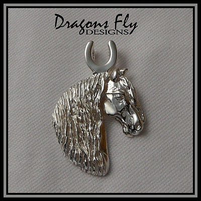 Horse Jewelry Friesian Pendant Necklace Friesian Stallion, Dragons Fly Designs