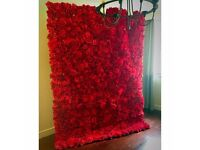 RED Wedding Flower Wall Backdrop Hire only £249 10ft x 10ft FREE LONDON DELIVERY AND COLLECTION