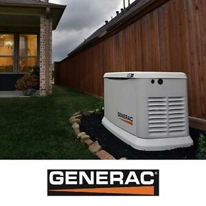 NEW* GENERAC STANDBY GENERATOR - 132935864 - 11000W (LP)/10000W (NG) AUTOMATIC TRANSFER SWITCH 200 AMP AIR COOLED GEN...