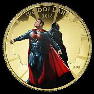 2016 Superman VS Batman 14K Gold Coin - Royal Canadian Mint