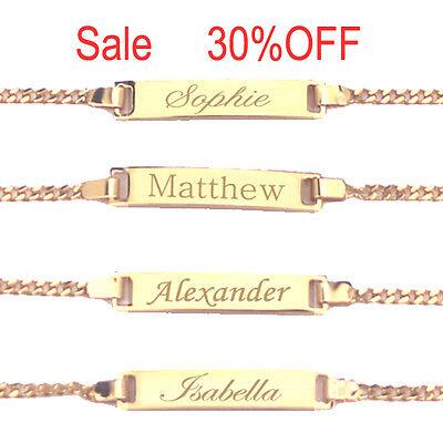 18K Gold Filled Personalized Baby ID Bracelet,  Custom Name Boy or Girl Bracelet