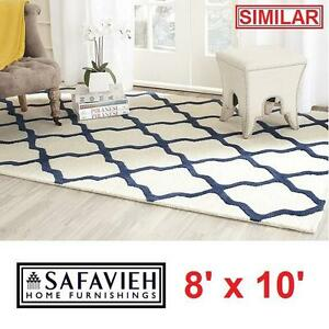 NEW SAFAVIEH 8' x 10' AREA RUG - 116670816 - IVORY NAVY CAMBRIDGE COLLECTION RUGS CARPET CARPETS FLOORING DECOR ACCEN...