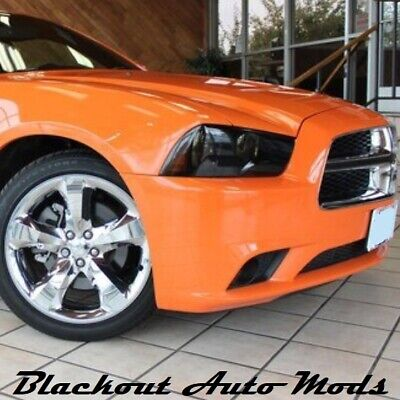 2011-14 Dodge Charger Complete Blackout Light Kit Precut Smoked Vinyl Overlay