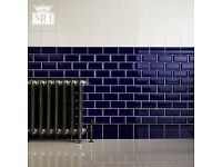 597 Minton Hollins Victorian Blue Metro Kitchen and Bathroom Wall Tiles (30 boxes at £11 per box)