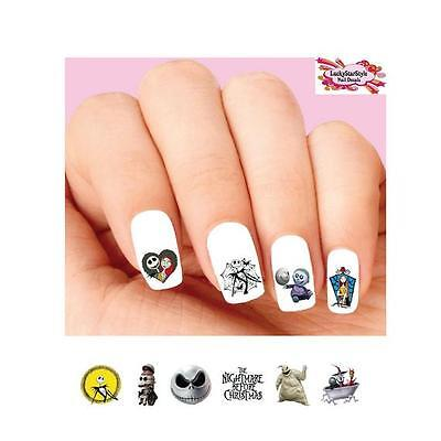 Waterslide Nail Decals Set of 20 - Nightmare Before Christmas Assorted](Christmas Nail Decals)