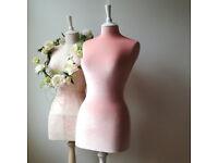 Female display Mannequin, Velvet pink dressform, Home decor, Dressmaking mannequin, Size 8/10